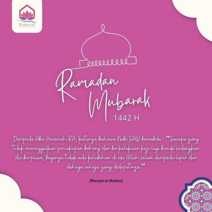 Pertubuhan Teratak Rahmah Wanita Islam (teratai) Mengucapkan Selamat