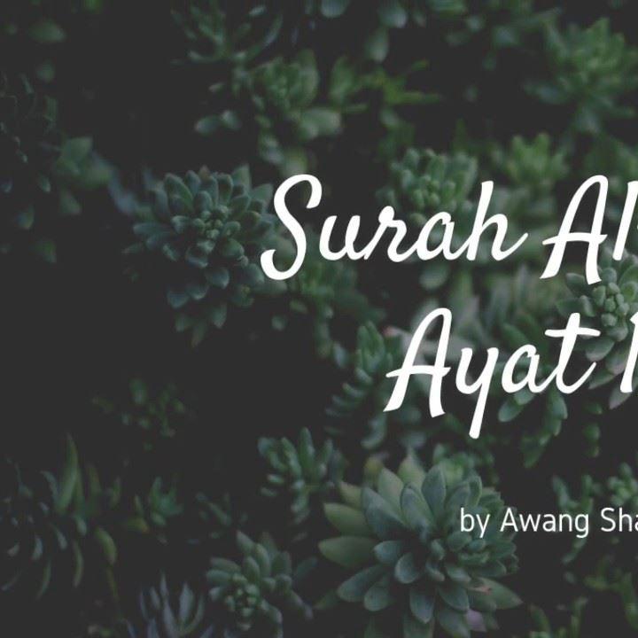 Mari Bacan Dan Dengar Surah Al-kahfi.