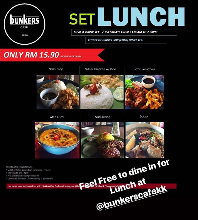 ** Weekdays Set Lunch **