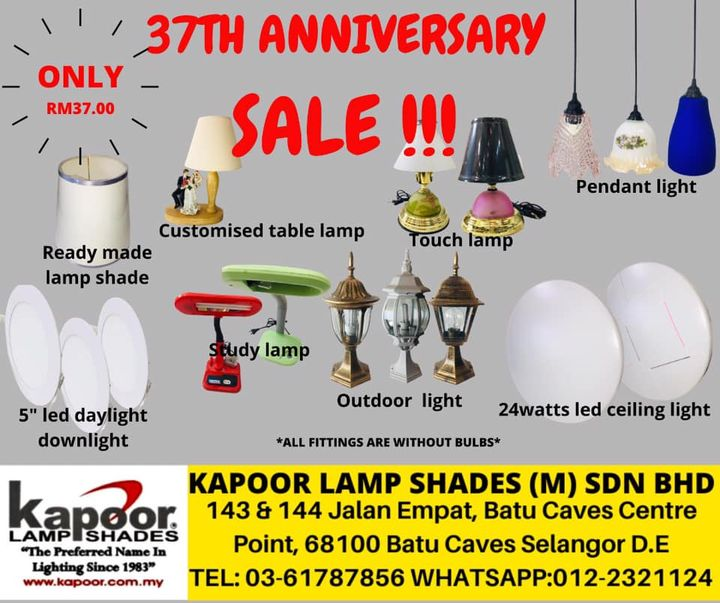 In Conjunction With Our 37th Anniversary Many More