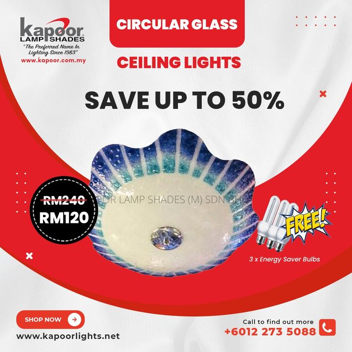 Check Out Our Circular Glass Ceiling Lights Selection