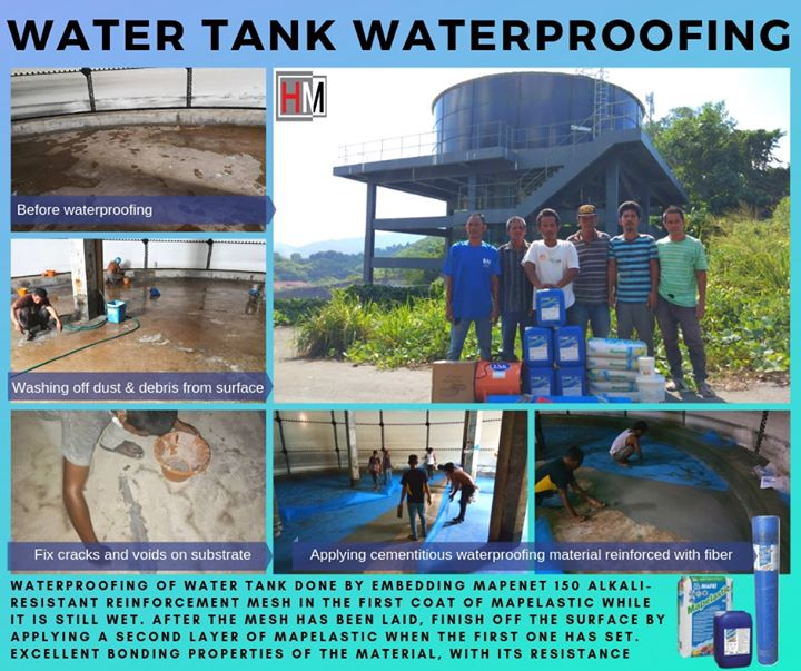 A Decent Waterproofing System Of The Water Tank