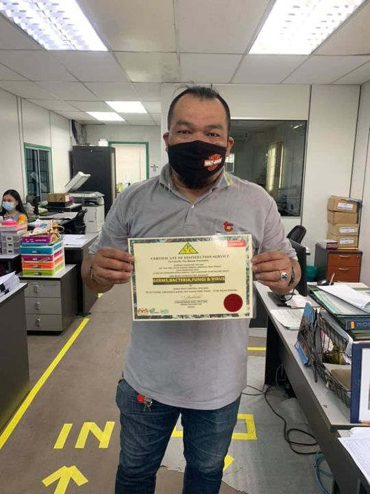 Done Disinfection Service At Logistics Company ✅