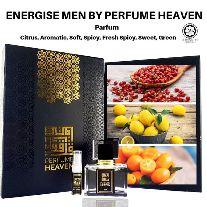 Energise Men By Perfume Heaven Main Accords Citrus