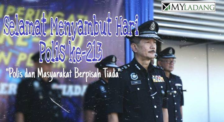 Selamat Menyambut Hari Polis Ke-213. Semoga Terus Kental