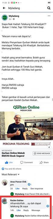 Alhamdulillah, Antara 10 Peserta Terawal Qurban Online Mekah