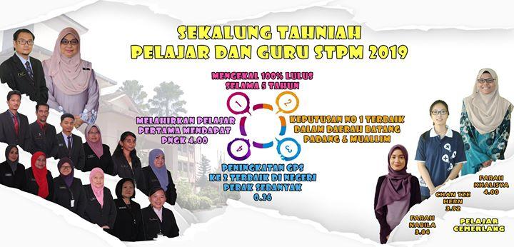 - Tahniah Pelajar Dan Guru Stpm 2019 -