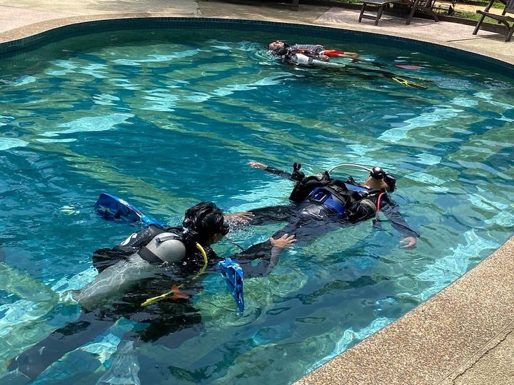 Pool Practice On Iantd Rescue Diver Course