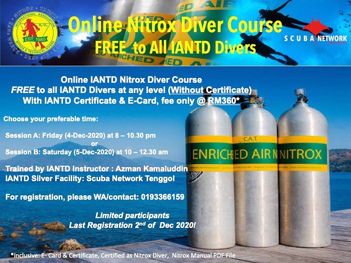 Calling All Iantd Divers Free Online Nitrox Course